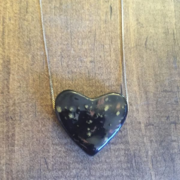 Small Midnight Heart Necklace