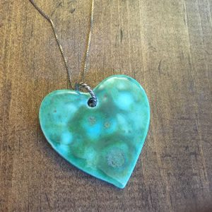 Turquoise Necklace w/Sterling Chain
