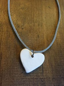 Small White Heart Necklace